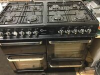 Falvel gas cooker 990 cm wide with a warranty of three months