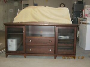 Wood Cabinet Dark Brown