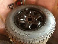 """GMC Acadia 17"""" wheels and cooper winter tires"""
