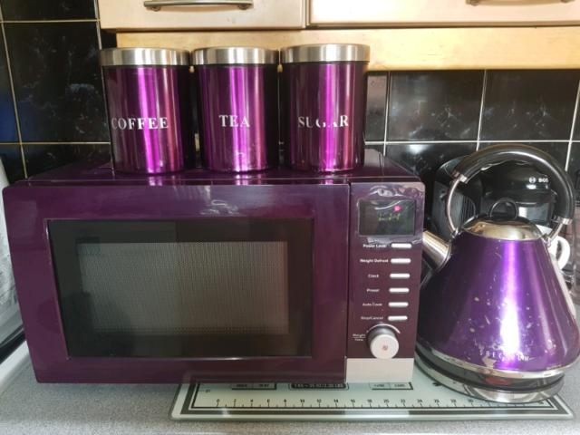 Dunelm Purple Microwave Kettle Set