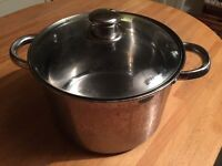 Kitchen Stainless steel large cooking pot with lid
