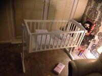 Baby Crib/ Rocking or stationary