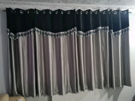 Black and Silver curtains