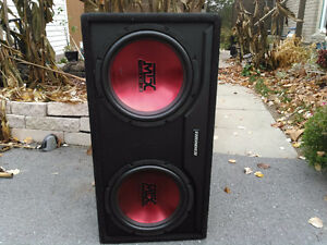 MTX Dual 12 inch subs in factory box. Really Pounds !!!!