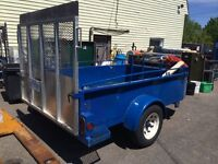 Heavy duty solid metal trailer with Alumium ramp
