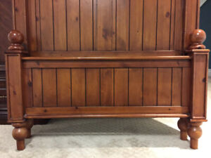 Pottery Barn Twin Bed Frame with Plush Mattress