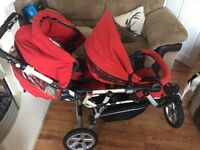 £85 £85 powertwin double pushchair anyone looking for MEGA bargain WELL LOOK HERE