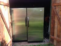 Woods stainless individual fridge and freezer