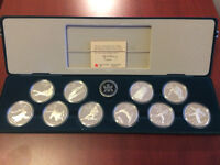 Calgary 1988 Olympic Winter Games Silver Dollar - set of 10