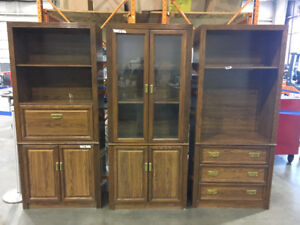 "THREE STORAGE UNITS 33"" WIDE EACH"