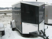 ENCLOSED 5 x 8 + V-nose UTILITY TRAILER REAR DOOR - STK # 1487