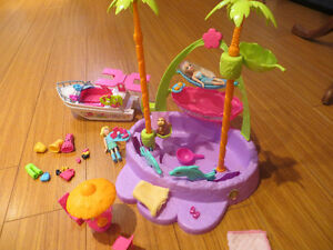 Polly Pocket Pool and Boat