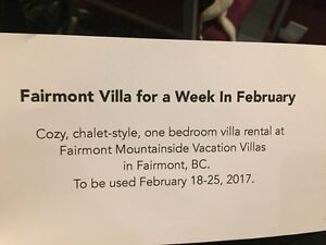 7-day getaway to Fairmont BC