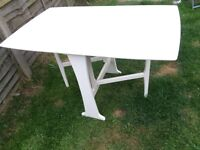 Shabby chic fold away table