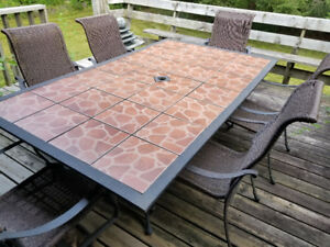 Cast Aluminum Patio Table & Chairs