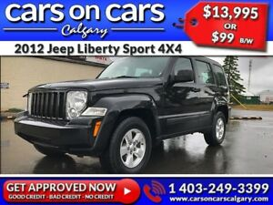 2012 Jeep Liberty Sport 4X4 $99 B/W INSTANT APPROVAL, DRIVE HOME