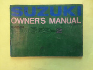 Rare 1960s Suzuki S-32 Owners Manual
