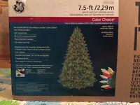 GE 7.5-ft Pre-Lit Easy Shape Colorado Spruce  Artificial Tree