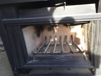 Wood fireplace insert with  gas or propane lighter never used