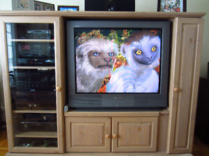 Tv with equiment