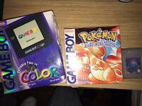 Gameboy colour box with Pokemon