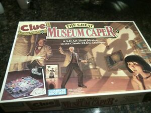 CLUE THE GREAT MEUSEUM CAPER board game