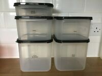 Tupperware modular mates set of 5 containers