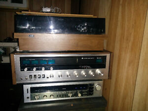 Vintage receivers and turntable - as is - NAD, Sansui, JVC