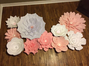 For sale- set of 11 handmade paper flowers asking $225