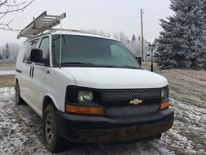 Chevrolet Express Commercial Van and full framing Set up