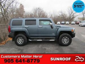 2006 Hummer H3 Base  4X4 LEATHER ROOF HEATED SEATS CHROME PACKAG