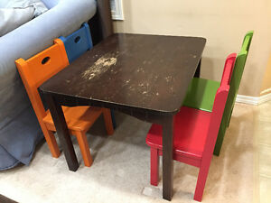 Costco Kids Table & 4 Chairs