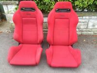 Recaro reclining bucket seat Honda Integra dc2 rails civic ek9 eg6 200sx drift