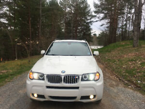 2007 BMW X3 Pearl White M Package 3L Si Amazing condition!