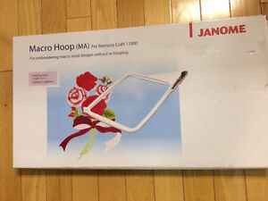 "Janome Macro hoop 7 -78"" X 11"" 200mm x 280m for Janome MC 11000"