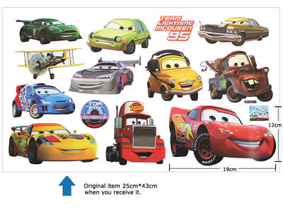 Removeable Cartoon Cars Wall Sticker Children Nursery Kids Room Home Decor Mural