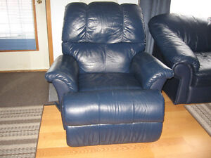 Leather recliner/rocker, loveseat,and couch.