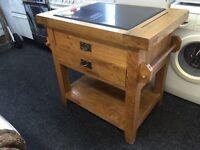 Solid oak kitchen centre piece