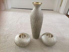 Next Beautiful vase and tea light holders