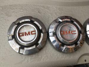 Vintage GMC 1/2 ton hubcaps