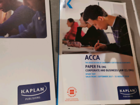 Acca Paper F4 Corporate business and law valid till August 2018