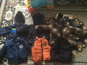 Lot garçon Manteau et doudoune + un habit de neige