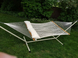 Hammock and with frame includes 2 pillows.