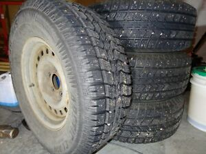 Studded winter tires on rims, F.Expedition 98 or 1/2 ton Ford Prince George British Columbia image 1