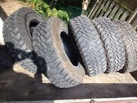 Goodyear MT/R with Kevlar Tires -11 TIRES TOTAL!!!