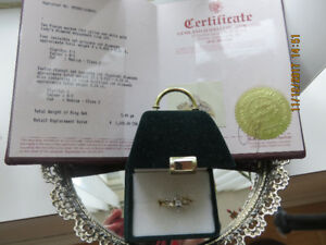14K Yellow  Solid Gold Diamond Engagement 2 Rings Set $1600 Reta