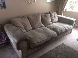 3 seater sofa with chair from SCS