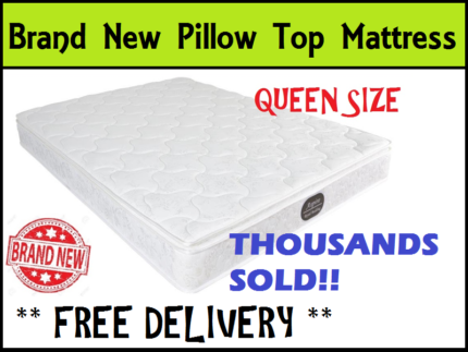 FREE DELIVERY Brand NEW Queen Size Bed Pillow Top Mattress