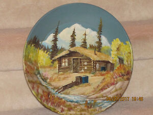 Gold Mining Pan with Oil Painting