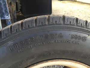 Tires for sale good shape LT 225/7516 London Ontario image 3